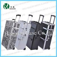 Professional make up case, PVC makeup box, hard case trolley bag