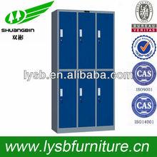 6 door Knock down Snap-it steel clothes storage cabinet