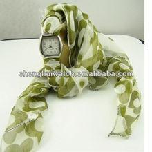 lady fashion gift silk fabric band Ribbon Watches