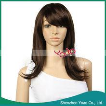 JCJ-180 European and American Popular Natural Curl Hair Wig Natural Black