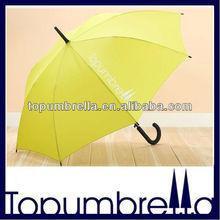 Plastic curve handle straight umbrella