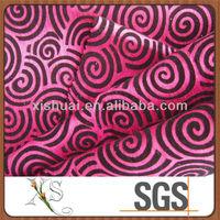 Nice Flock on Flock Shantung Fabric Textiles