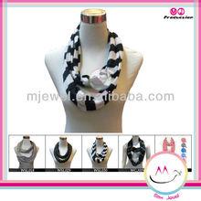Chic stripe infinity viscose pashmina shawl