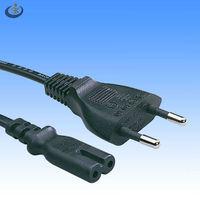 European VDE HO3VVH2-F 2-pin plug