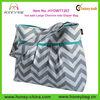 Popular Large Baby Shoulder Chevron Diaper Bag with Adjustable Strap