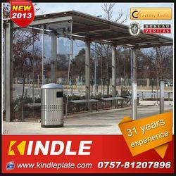 outdoor galvanized metal public modern solar advertising bus stop advertising billboard