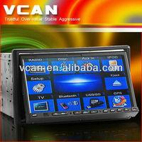 2 din 7 inch touch screen car dvd built-in gps /bluetooth/ am/fm radio/tv