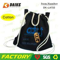 Custom Cotton Photo Printing Cotton Drawstring Backpack DK-LA722