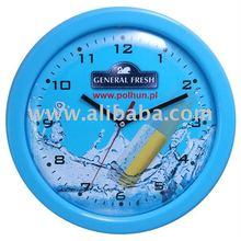 "Promotional plastic wall clock 13"""