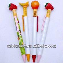 2013 Fruit Shape Ball Pens With Strawberry Apple Banana Grape