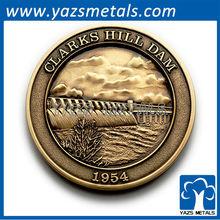 customized metal gold clark shill dam coins