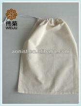 Organic cotton drawstring shoe bag