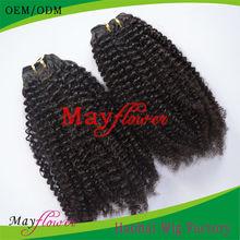 5a grade 100% human virgin peruvian hair afro curl hair weave bundles