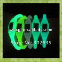 MA-714 2013 Hot Sell Glow in Dark Anion Silicone Women Watch
