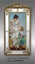 framed oil painting,women portrait oil painting for home decor