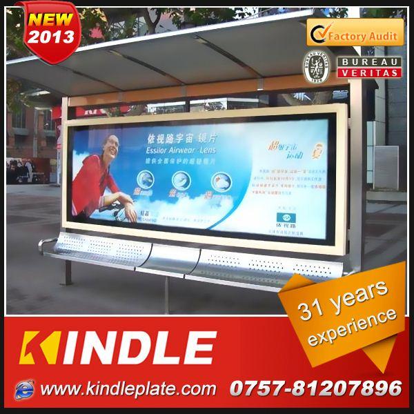 outdoor galvanized metal public modern solar petg plastic sheets with advertising billboard