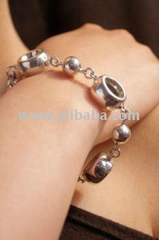 Oval Sterling Silver Bracelet