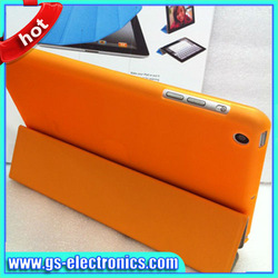 Fashion magnetic smart leather case for ipad 4 3/2 with sleep and wake function