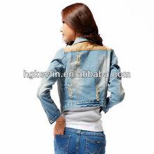 Spring auturm fashion classic fit garment women denim jeans jacket
