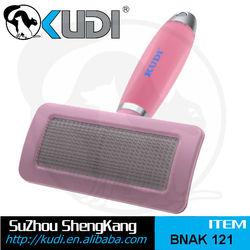 pet grooming tool, Gel handle slicker brush, pet brush