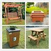 China Outdoor Furniture Manufacturer for Park Bench, Trash Sin, Flower Pot, Pavilion, Recyled Plastic Wood