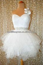 SJ1244 new design simple sweetheart knee length beaded crystal sexy Homecoming Dresses