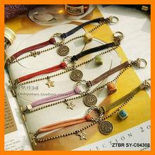 Zodiac sign charm bracelet