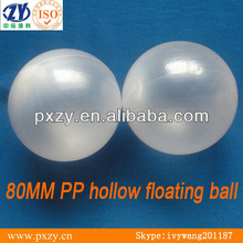 80MM PP hollow floating balls,clear color,chemical corrosion resistant