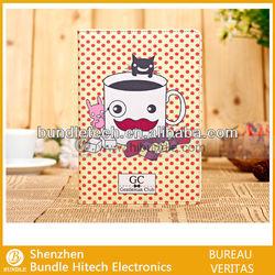 for ipad mini leather cartoon case, soft tpu inside