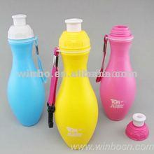 Mouth nozzle screw cover bowling shape bottle