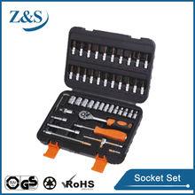 "46pcs auto repair use 1/4"" socket set, joint bar"