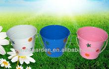 Children zinc garden planter with handle