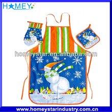 Economical and practical popular kitchen cotton apron glove sets
