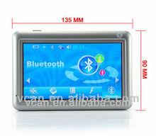 SB-CS11 5'' Touchscreen keypad Car GPS navigator with multimedia features
