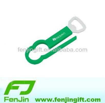 new mold promotional plastic handle 2 in 1 bottle opener
