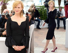 LEV-044 The 66th Annual Cannes Film Festival Black Sheath Long Puffy Sleeve Tea Length Black Frocks