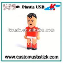 Good design plastic usb flash drive blank peopele shapes4gb 8gb
