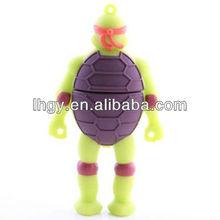 Novelty design soft pvc Ninja Turtle decorative flash drives (LH-1512)