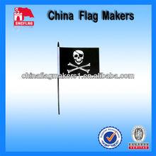 Customized Pirate Logo Printing Hand Flag Pole