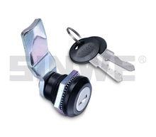 chrome or black coated desk drawer lock