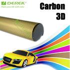 3D Carbon fiber vinyl film with air free bubbles,cool carbon cover