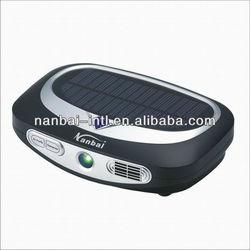 Solar powered portable air purifier for car, automobile, vehicle, bus