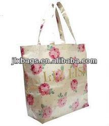 waterproof rose reusable foldable shopping bag