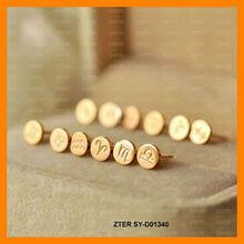 Zodiac sign studs earring ZTER SY-d01340