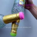 2013 vendas quente bonito de silicone coloridas de vidro tampas de garrafa