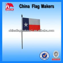 Custom Polastic Pole Hand Stick Flag Texas Logo