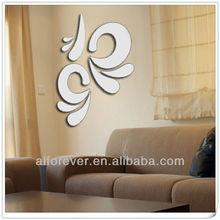 mirror sticker flower for home decor