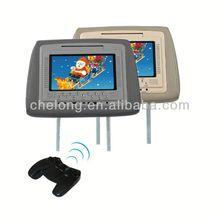 7 inch headrest entertainment dvd player car headrest detachable dvd players