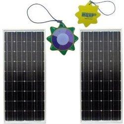 HQRP 170 Watt (85W 85W) Monocrystalline Solar Panel