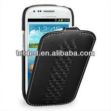 OEM Premium Leather Case for Samsung Galaxy S3/SIII Mini I8190 -- Troyes (Weave: Prestige Dark Brown057)